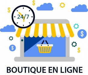 Illustration Boutique en ligne